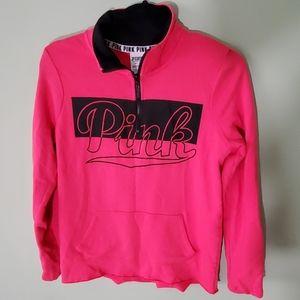Pink Victoria's Secret Half Zip